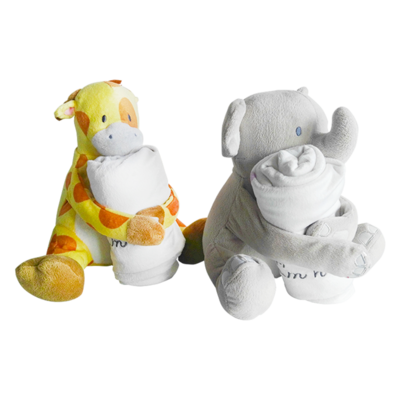 Soft Baby Stuffed Plush Animal Toy With Blanket Supply