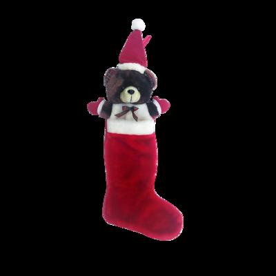 Custom Holiday Plush Christmas Bear Socks Wholesale