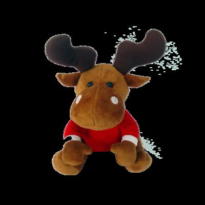 Soft Custom Holiday Plush Christmas Moose Supply