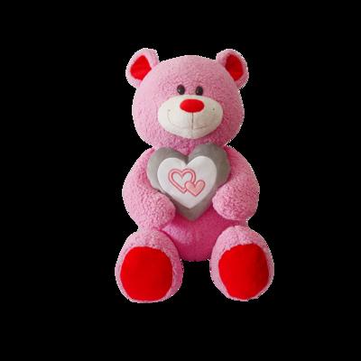 Custom Holiday Plush Stuffed Bears Toys With Heart Wholesale